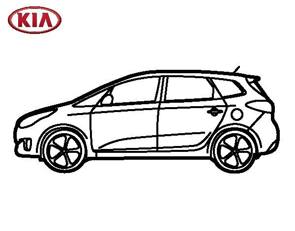 Dibujo de Kia Carens lateral para Colorear