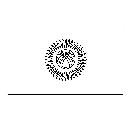 Dibujo de Kirguistán para Colorear