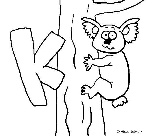 Dibujo de Koala 1 para Colorear