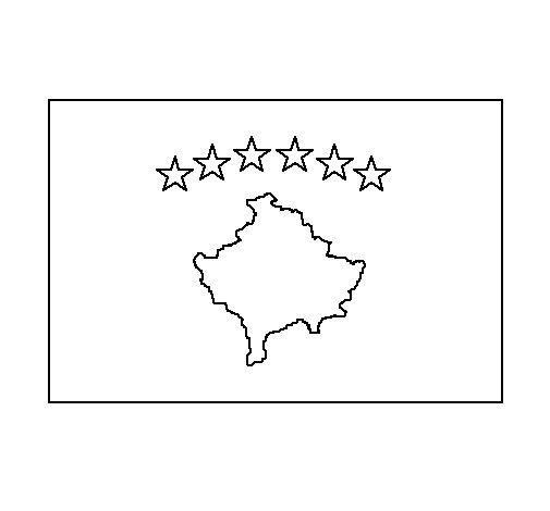 Dibujo de Kosovo para Colorear