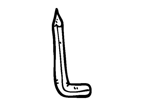 Dibujo de L minúscula para Colorear