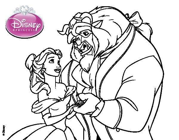 Dibujo de La Bella y la Bestia - Bella y Bestia para ...