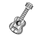 Dibujo de La guitarra española para colorear