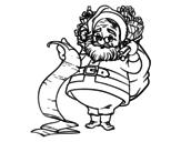 Dibujo de La lista de Papá Noel para colorear