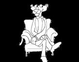 Dibujo de La Pantera Rosa para colorear