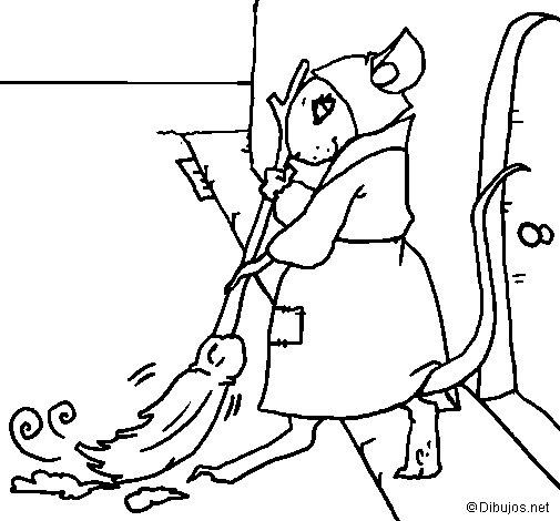 Dibujo de La ratita presumida 1 para Colorear