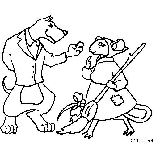 Dibujo de La ratita presumida 11 para Colorear