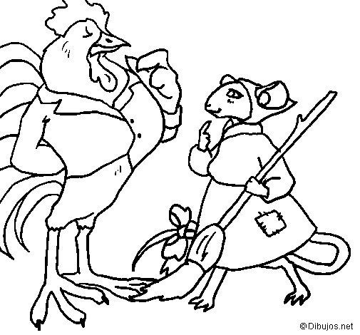 Dibujo de La ratita presumida 13 para Colorear