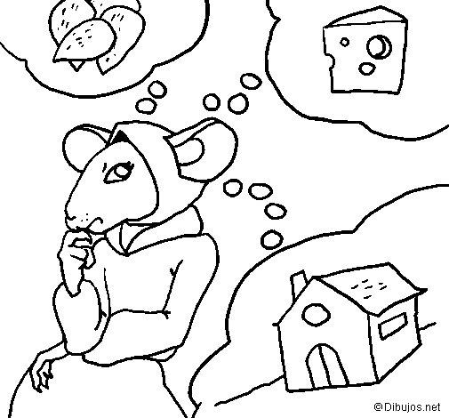 Dibujo de La ratita presumida 4 para Colorear