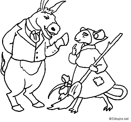 Dibujo de La ratita presumida 9 para Colorear
