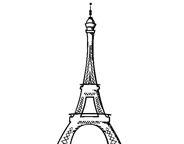 Torre Ifel En Dibujo: Dibujo De La Torre Eiffel Para Colorear