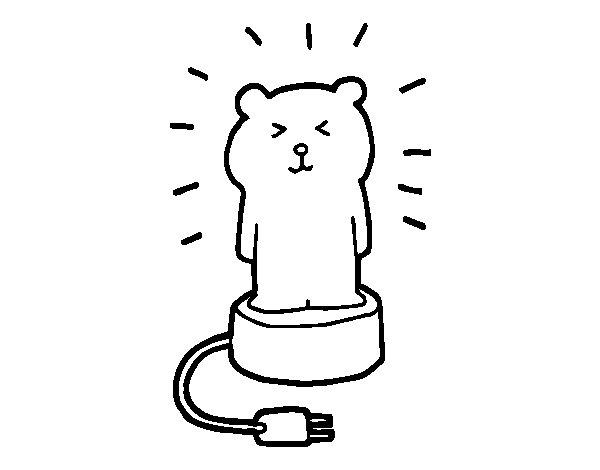 Dibujo de Lámpara Infantil para Colorear