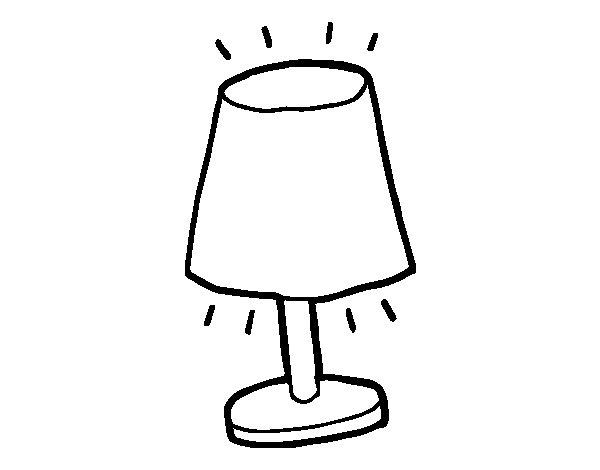 Dibujo de Lámpara pequeña para Colorear