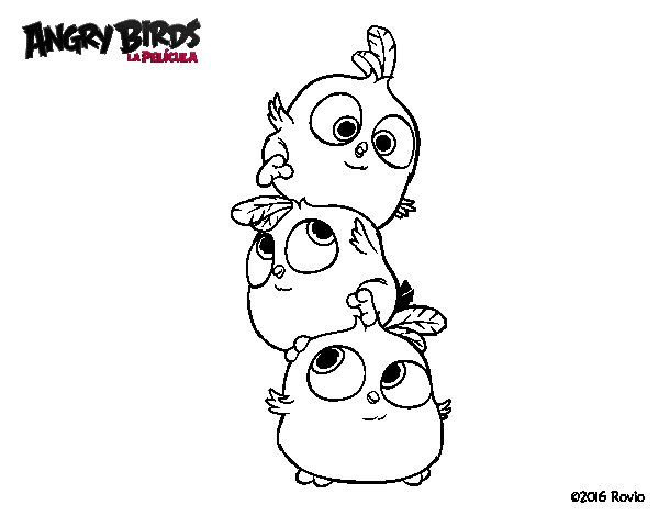 angry bird red bird coloring page