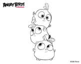Dibujo de Las crias de Angry Birds para colorear