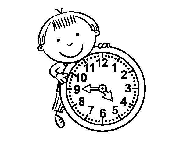 Dibujo de Las horas para Colorear