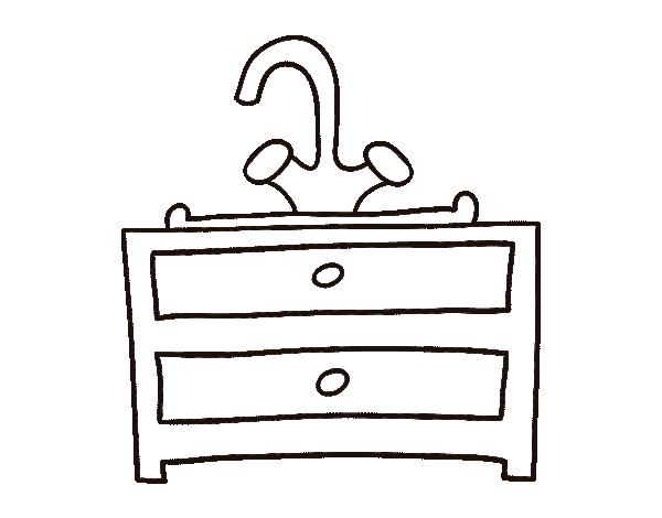 Dibujo de lavabo para colorear - Lavabo en catalan ...