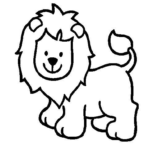 Dibujo de León 4 para Colorear - Dibujos.net