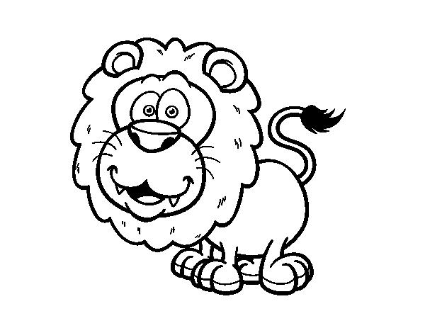 Dibujo De Le 243 N De Katanga Para Colorear Dibujos Net