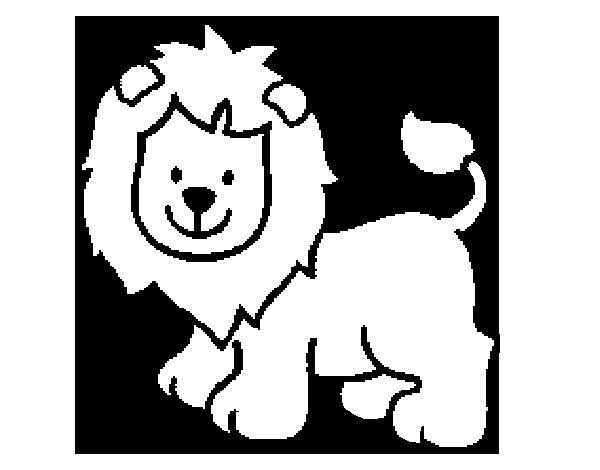 Dibujo de Len feliz para Colorear  Dibujosnet