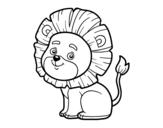 Dibujo de León joven para colorear