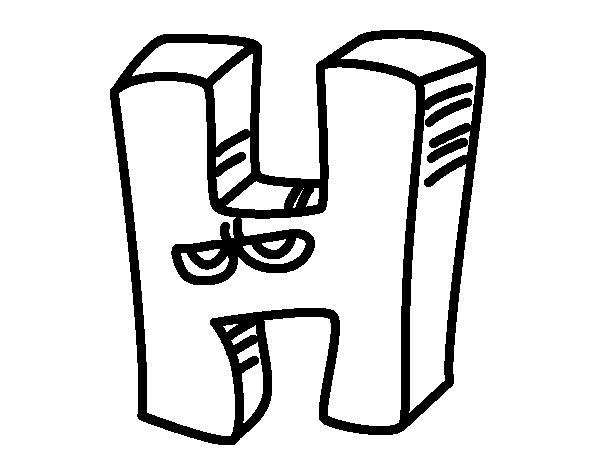Dibujo de Letra H para Colorear