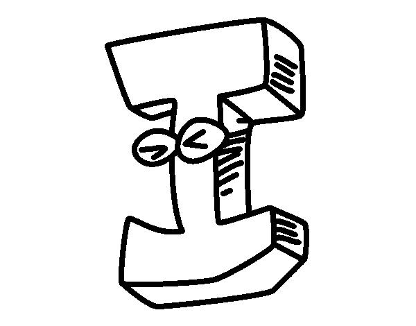 Dibujo de Letra I para Colorear  Dibujosnet