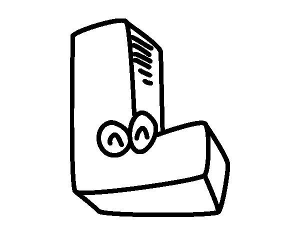 Dibujo de Letra L para Colorear