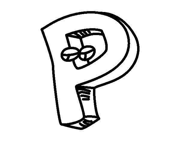 Dibujo de Letra P para Colorear
