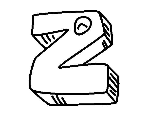 Dibujo de Letra Z para Colorear