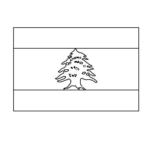 Dibujo de Líbano para Colorear