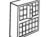 Dibujo de Librería para colorear