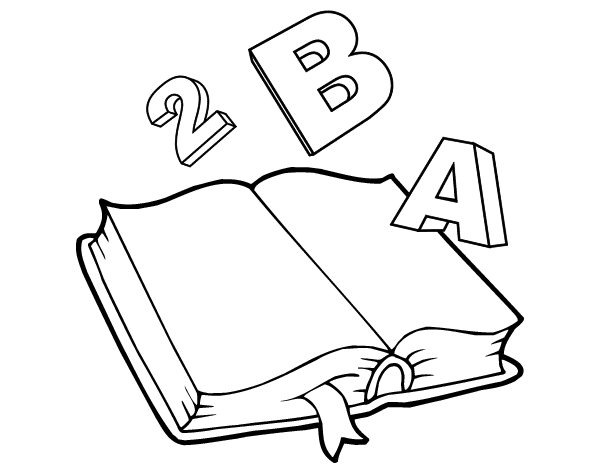 Dibujo De Libro Animado Para Colorear