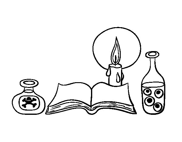 Dibujo de Libro de conjuros para Colorear
