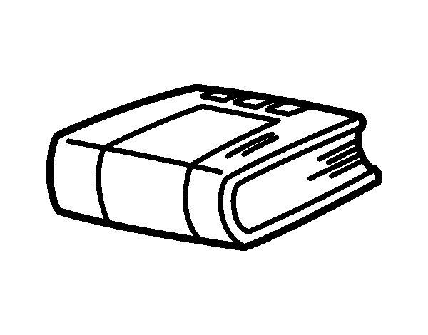 Dibujo de Libro de Historia para Colorear