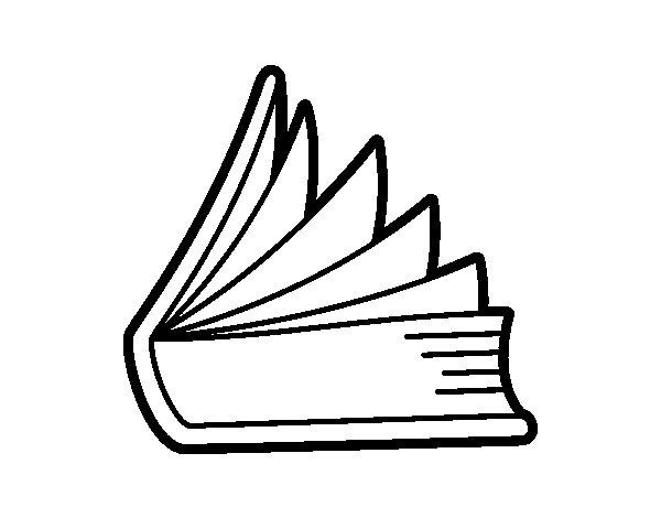 Dibujo de Libro entreabierto para Colorear