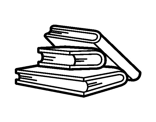 Dibujo de Libros de lectura para Colorear