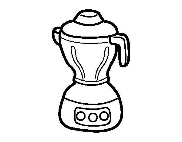 Dibujo de Licuadora para Colorear  Dibujosnet