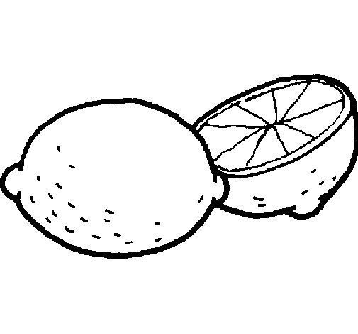 Dibujo de Limón para Colorear
