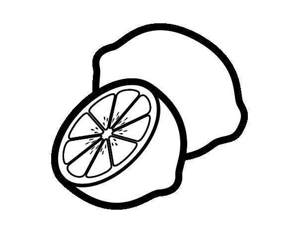 Dibujo De Jugo Para Colorear: Dibujo De Limones Para Colorear