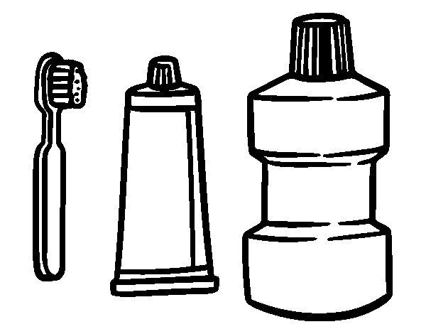 Dibujo de Limpieza Bucal para Colorear
