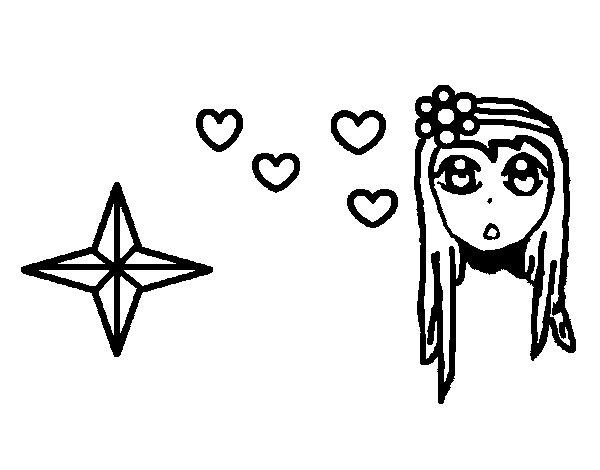 Dibujo de Linda princesa para Colorear