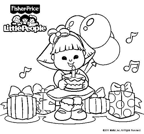Dibujo de Little People 10 para Colorear
