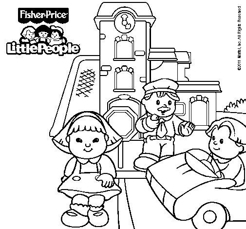 Dibujo de Little People 12 para Colorear