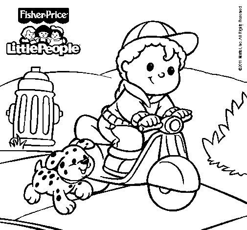 Dibujo de Little People 13 para Colorear