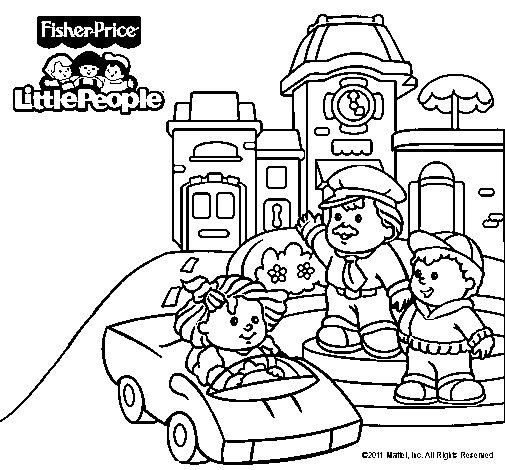 Dibujo de Little People 14 para Colorear