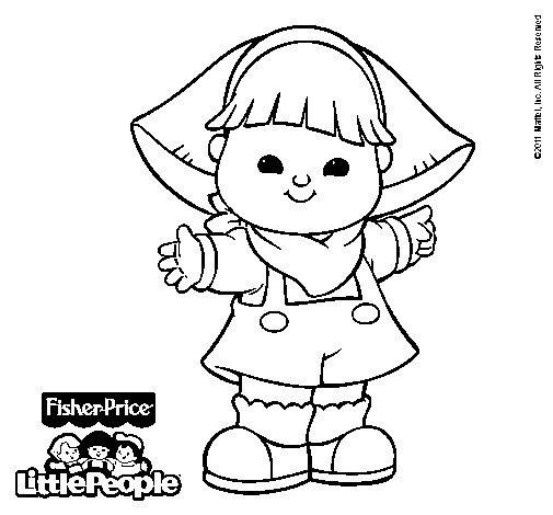 Dibujo de Little People 15 para Colorear