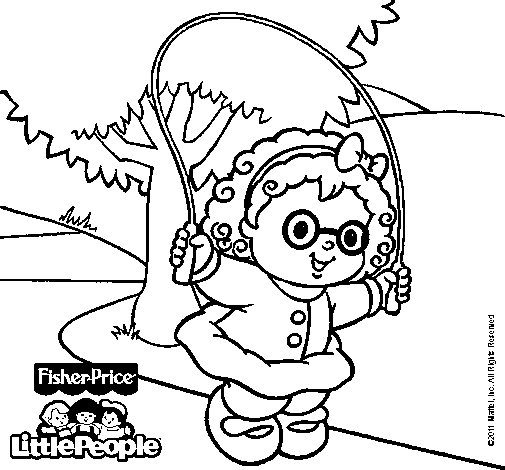 Dibujo de Little People 16 para Colorear