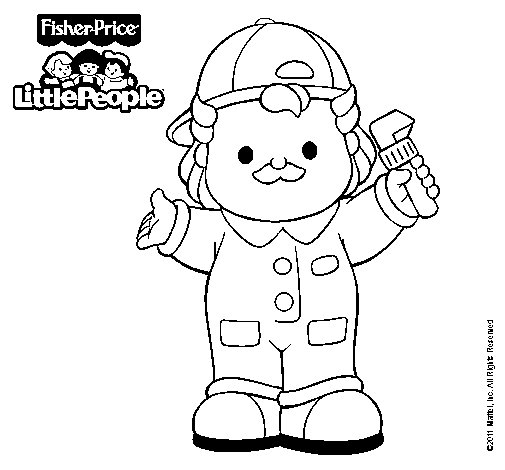 Dibujo de Little People 17 para Colorear