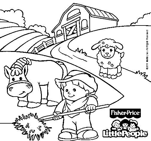 Dibujo de Little People 5 para Colorear